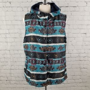 CELLABIE   hooded & lined button up vest